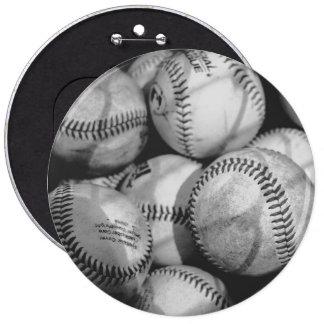 Baseballs in Black and White 6 Cm Round Badge