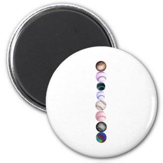 Baseballs 6 Cm Round Magnet