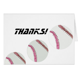 Baseballs or Softballs Card