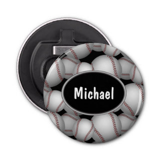 Baseballs Pattern Bottle Opener