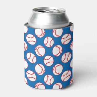 Baseballs Pattern Can Cooler