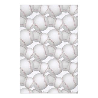 Baseballs Pattern Stationery