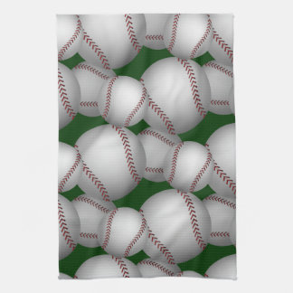 Baseballs Pattern Tea Towel