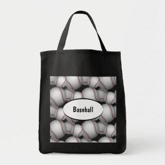 Baseballs Pattern Tote Bag