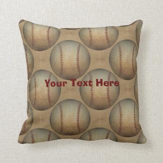 Baseballs Personalized Cushion