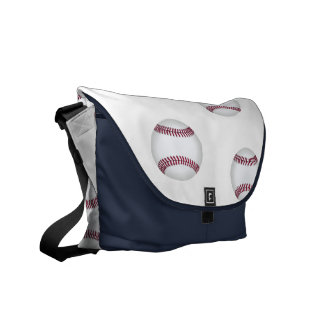 Baseballs Sports Lover Navy Blue Messenger Bags