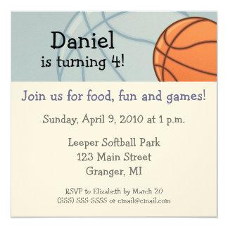 Baseketball Birthday Party Invitations 5.25 in