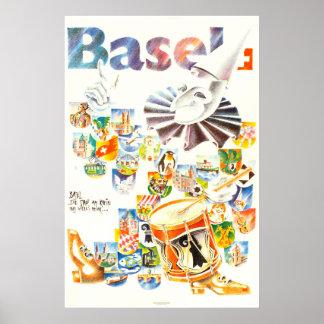 Basel, Die stadt am Rhein, Suisse, Travel Poster