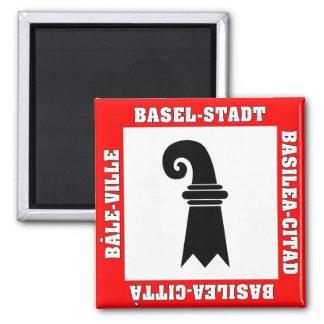 Basel Stadt Switzerland Flag Square Magnet