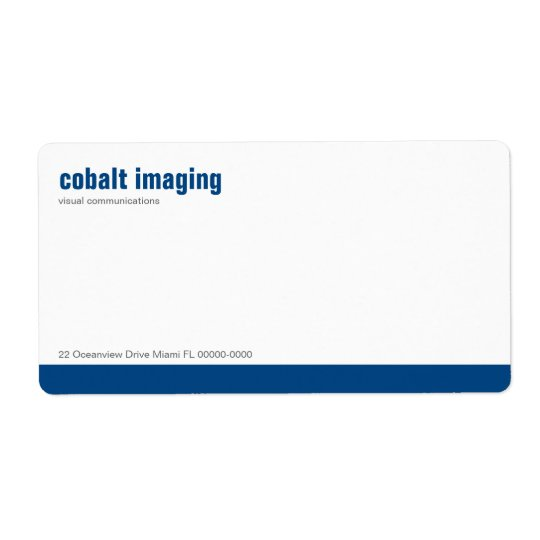 Baseline Panel Cobalt Shipping Label