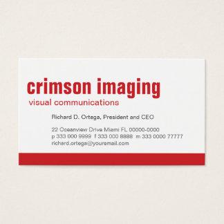 Baseline Panel Crimson Business Card