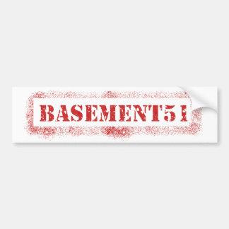 Basement51 Sticker Bumper Sticker