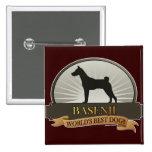 Basenji 15 Cm Square Badge