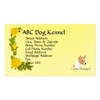 Basenji and Yellow Roses Pack Of Standard Business Cards