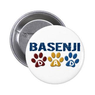 BASENJI DAD Paw Print Pinback Buttons