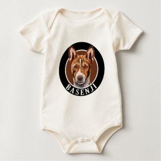 Basenji Dog 002 Baby Bodysuit
