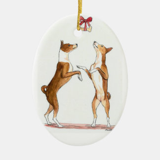 Basenji Dog Art Ornament