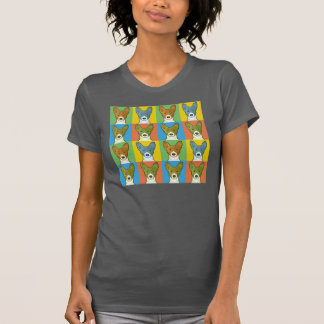 Basenji Dog Cartoon Pop-Art T-Shirt
