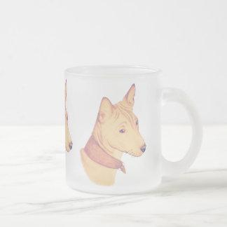 Basenji - frosted glass mug