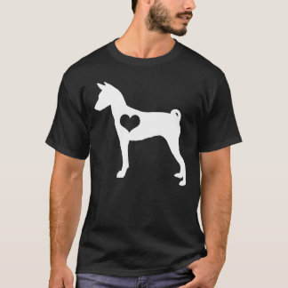 Basenji Heart Mens Dark T-Shirt