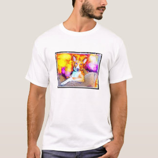 Basenji leaning on chair t-shirt