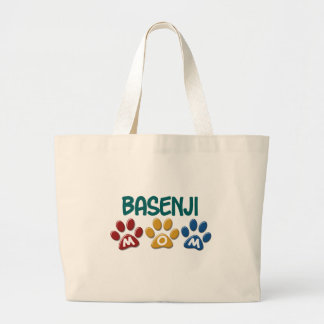 BASENJI MOM Paw Print Jumbo Tote Bag