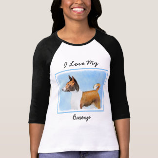 Basenji Painting - Cute Original Dog Art T-Shirt