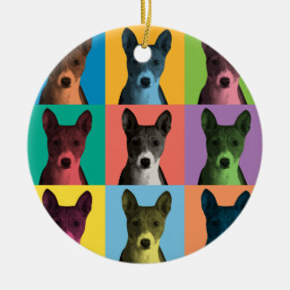 Basenji Pop-Art Ornament