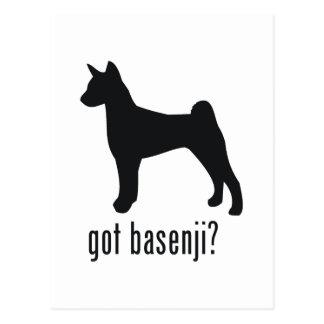 Basenji Postcard