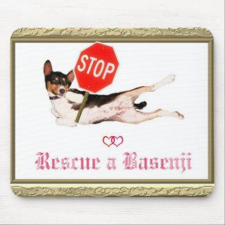 basenji rescue mouse pad