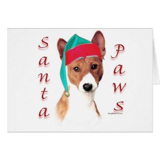 Basenji Santa Paws Card