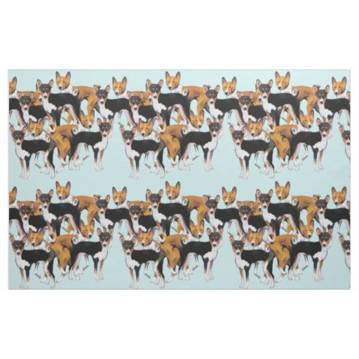 Basenji seamless pattern fabric