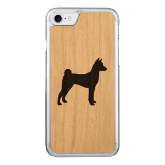 Basenji Silhouette Carved iPhone 8/7 Case