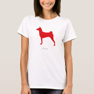 Basenji T-shirt (red silhouette)