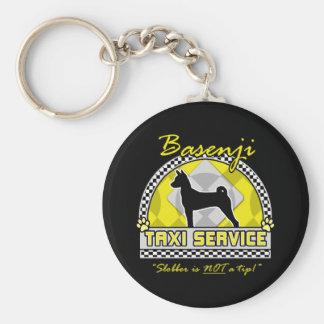 Basenji Taxi Service Basic Round Button Key Ring