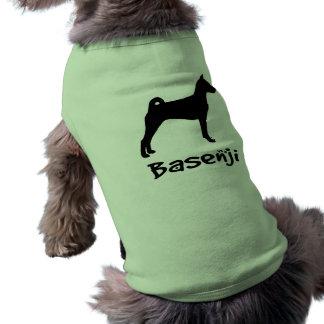 Basenji w/ Cool Text (in black) Shirt