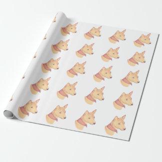 Basenji wrapping paper