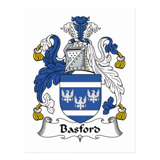 Basford Family Crest Postcard
