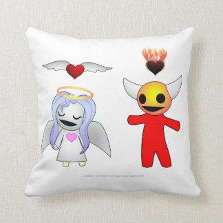 Bashful Candy Angel and Devil Doll Cushion