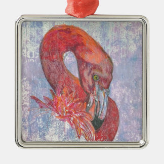 Bashful Flamingo Christmas Ornament