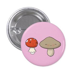 Bashful Mushroom 3 Cm Round Badge