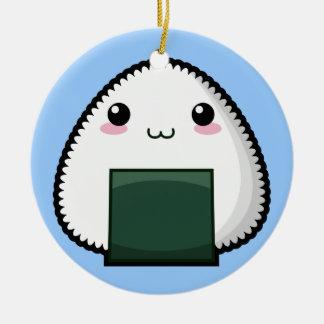 Bashful Onigiri Christmas Ornament