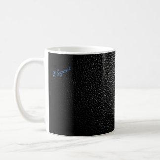 Basic and elegant Black Leather style mug