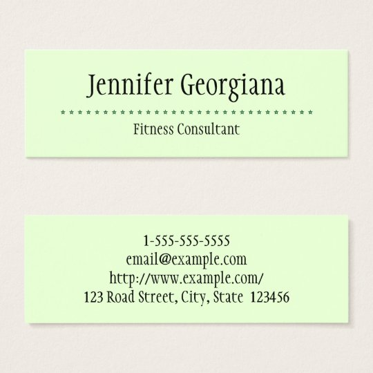 Basic and Plain Fitness Consultant Business Card