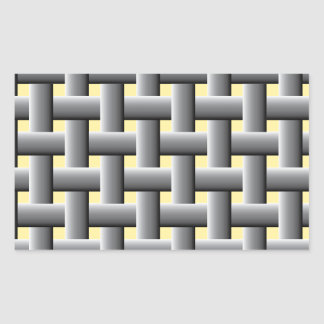 Basic basket weave pattern rectangular sticker