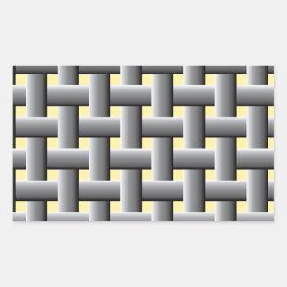 Basic basket weave rectangular sticker