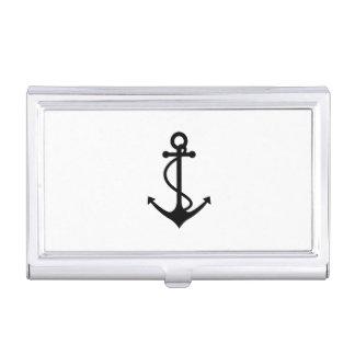 Basic Black Anchor Business Card Holder