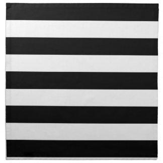 Basic Black and White Stripes Napkin