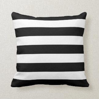 Basic Black and White Stripes Throw Cushions