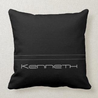 Basic Black Gray Stripe Throw Pillow